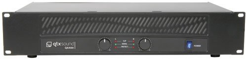 (AMP32 - QA SERIES QA400 2 x 200W POWER AMPLIFIER DUAL CHANNEL OVERHEAT PROTECTION MULTIPLE INPUTS/OUTPUTS 2U 19