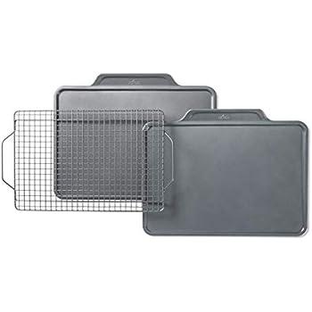 All-Clad J257S364 Pro-Release bakeware set, 3 piece, Grey