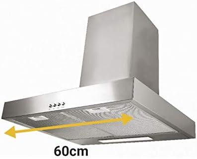 Universal Blue - ZANIAH Campana T inox de 60 cm: Amazon.es: Grandes electrodomésticos