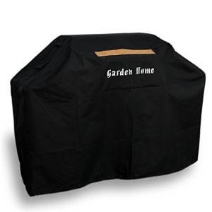 Garden Home Heavy Duty BLACK 58 INCH Grill Cover with Brush