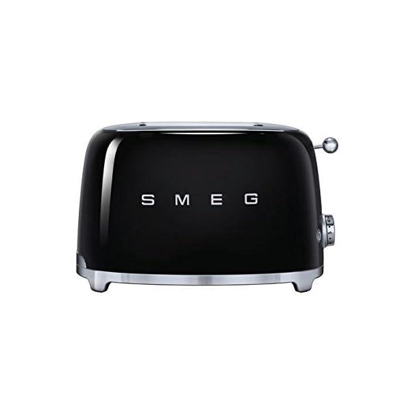 Smeg TSF01BLUS 50's Retro Style Aesthetic 2 Slice Toaster, Black 1