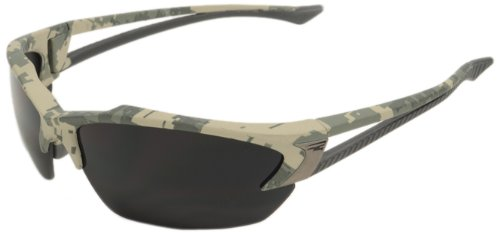 Edge Eyewear TSDK21DC Khor Safety Glasses, Digital Camouflage with 3 Lens - Camo Sunglasses With Lenses