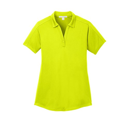 Port Authority Ladies Diamond Jacquard Polo, Citron, Small