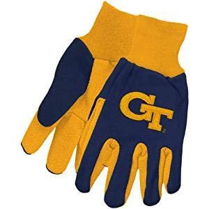 (NCAA McArthur Georgia Tech Yellow Jackets Two-Tone Utility Gloves - Navy Blue-Gold)