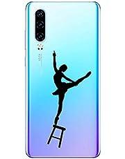 Oihxse Funda Huawei Honor 10, Ultra Delgado Transparente TPU Silicona Case Suave Claro Elegante Creativa Patrón Bumper Carcasa Anti-Arañazos Anti-Choque Protección Caso Cover (A11)