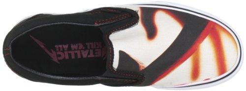 Vans U CLASSIC SLIP-ON (METALLICAKILLE - Zapatillas de casa de lona unisex negro - Schwarz ((MetallicaKillE)