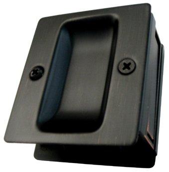 Dark Oil Rubbed Bronze Passage Pocket Door Pull