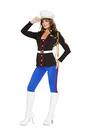 Cyberteez Sexy Women's 3pc Sexy Marine Corporal Military Armed Forces Costume (M) -