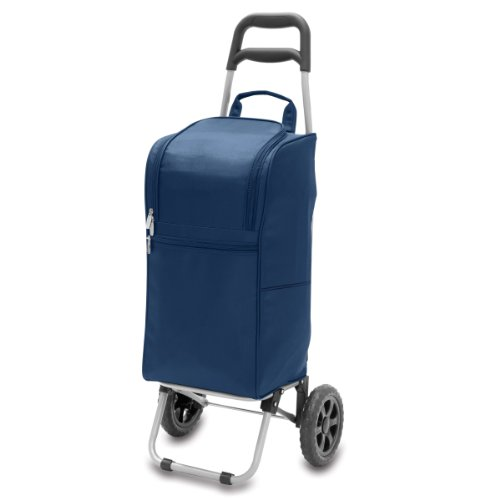- ONIVA - a Picnic Time Brand Insulated Cart Cooler with Wheeled Trolley, Navy