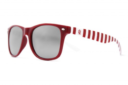 NCAAIndiana Hoosiers Sunglasses-Candy Stripe Frame, Silver Lenses, Red/White, One Size, IND-4 -