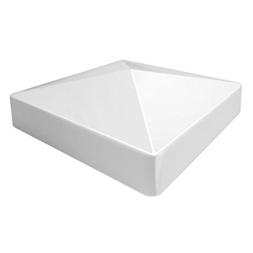 PVC Flat (Pyramid) External Post Cap 5'' x 5'' (6 Pieces) by Master Halco