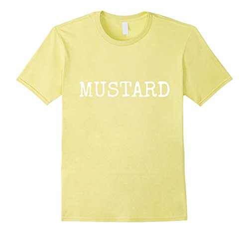 Costumes Funny Themed Halloween Group (Mens MUSTARD Halloween Group Costume T-Shirt Funny 3XL)