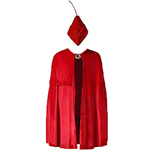 Anime Prince Phillip Cosplay Costume Red Cloak for Halloween Performance Show (M for 65 inch)]()