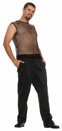 Hip Hop Sleeveless Mesh (Black) Adult Top