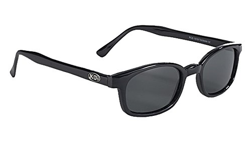 Original X-KD's Biker Polarized Lenses Black Frames 20% - Sunglasses Xkd
