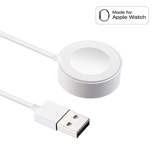Price comparison product image Compatible with Apple Watch Magnetic Wireless Charger Pad Charging Cable Cord Compatible with Apple Watch iwatch 38 mm / 42 mm Series 1 / 2 / 3 / 4,  3.3Ft