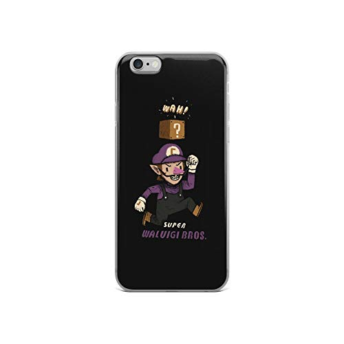 iPhone 6/6s Case Anti-Scratch Gamer Video Game Transparent Cases Cover Super Waluigi Bros Gaming Computer Crystal Clear]()