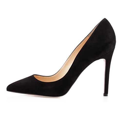 Talon Aiguille Fermé Bureau Femme Pointu Mariage Soiree Edefs Bout Escarpins Suede Pumps Chaussures Stilettos x1qwnSRgI