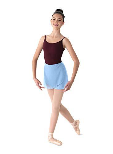 Mirella Women's Georgette Wrap Dance Skirt, Light Blue, One Size