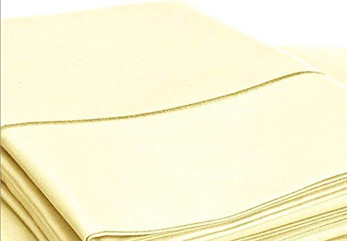 CHATEAU HOME COLLECTION 800-Thread-Count Egyptian Cotton Deep Pocket Sateen Weave Sheet Set, Ultimate Gift; Holiday Sale (Queen, Transparent Yellow)