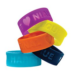 1 X One Direction Limited Edition 1D + Od Together Silicone Wristbands, Harry - Nice, Sky Blue
