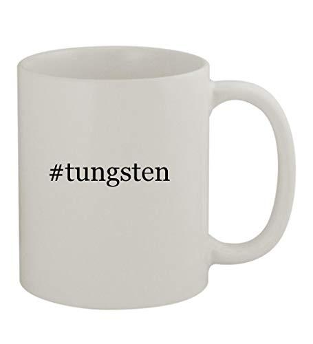 #tungsten - 11oz Sturdy Hashtag Ceramic Coffee Cup Mug, White