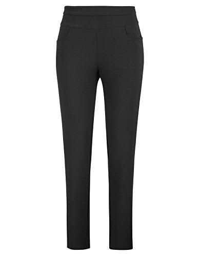 Petite Ankle Pant (Kate Kasin Business Pencil Pants For Women Work Solid Color Black,M,KKAF1017-1)