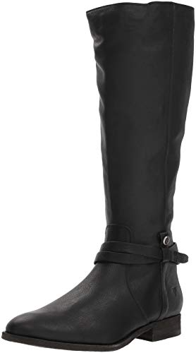 FRYE Women's Melissa Belted Tall Knee High Boot, Black, 10 M ()