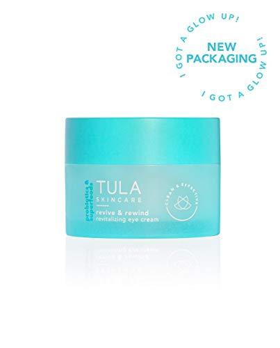 TULA Probiotic Skin Care Revive & Rewind Revitalizing Eye Cream, 0.5 oz. – Smooth Fine Lines, Dark Circles & Puffiness