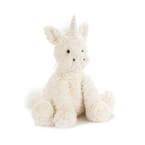 Jellycat Fuddlewuddle Unicorn Stuffed Animal, Medium, 9 inches