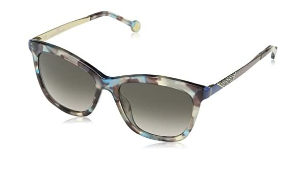 Caroline Herrera Mujer N/A Gafas de sol, Marrón (Dark Brown/Shiny Azure)