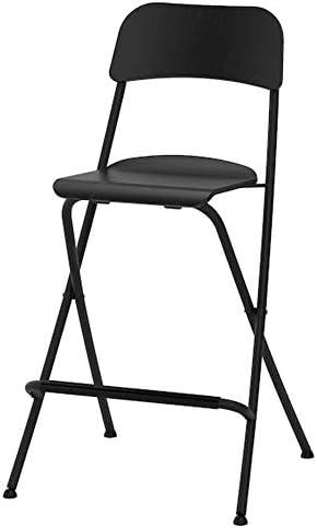 Amazon Com Ikea Franklin Bar Stool With Backrest Foldable Black 24 3 4 504 064 65 Kitchen Dining