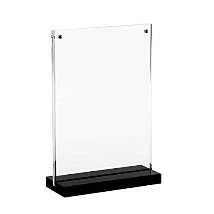 Exhibition Stand Frame : Amazon.com : 6x8 inches acrylic magnetic desktop photo frame sign