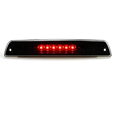 For 1994-2001 Dodge Ram 1500/2500/3500 Third 3rd LED Brake Light Cargo Lamp High Mount Brake Light Replacement (Black+ Smoke Lens): Automotive