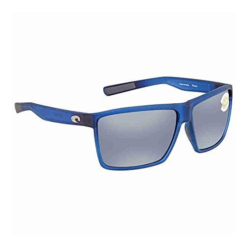 Costa Del Mar Rincon Sunglasses Matte Atlantic Blue/Gray Silver Mirror 580Plastic (Atlantic Mirror)
