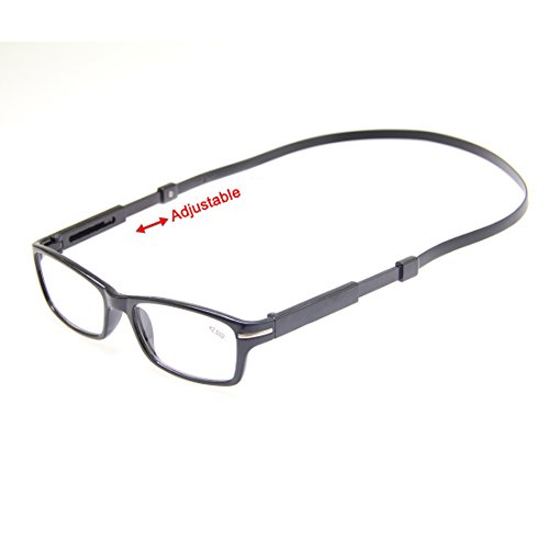TOPSTARONLINE New Black or Brown Frame Power Reading Glasses +1 +1.5 +2 +2.5 +3 +3.5 +4.0 (+3.5, Black2) (Bridge Glasses Split)