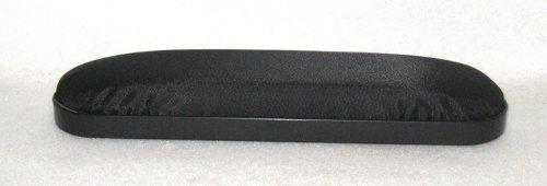 Black Nylon Padded Desk Length Armrests Pair, Universal Fit