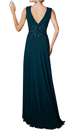Gown Neck Avril Long Chiffon of Mother Dress Party Straps Deep Champagne V Bride Sexy qqwgfxa