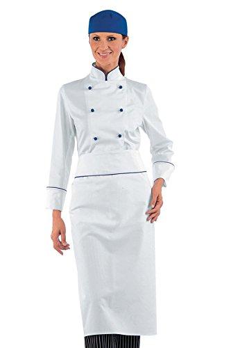 Giacca Chef Antipanico Bottoni Bianco Manica m² Cina Isacco blu 100 S 190 Lunga Gr Lady Cotone Bianco Tessuto dEqnzv4