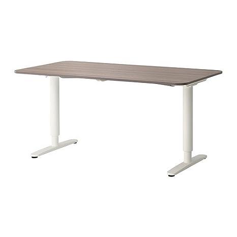 Ikea Bekant - Mesa de Escritorio, Color Gris y Blanco: Amazon.es ...