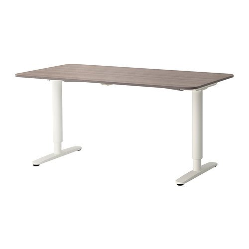 Ikea Bekant - Mesa de Escritorio, Color Gris y Blanco: Amazon.es ...