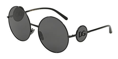 Dolce & Gabbana Women's Sicilian Sweet Round Sunglasses, Black/Grey, One Size