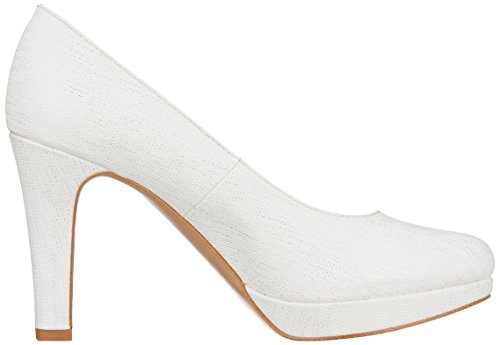 S.oliver Damen Pompes 22.410 Weiss (struct Blanc).