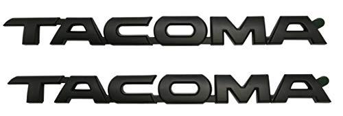 Matte Black Tacoma Fender/Tailgate Emblem For Toyota Tacoma, 2 ()