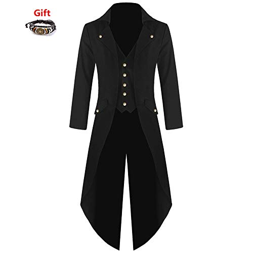 SMALLE–Steampunk-Mens-Trench-Coats-Gothic-Hooded-Detachable-Long-Coats-Tailcoat-Party-Overcoat