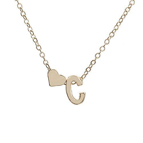 - Topgee Fashion Women Cute Heart Letter Choker Chain Pendant Lady Necklace Jewelry Women Lady Gift English Letter Name Chain Pendant Necklaces Jewelry