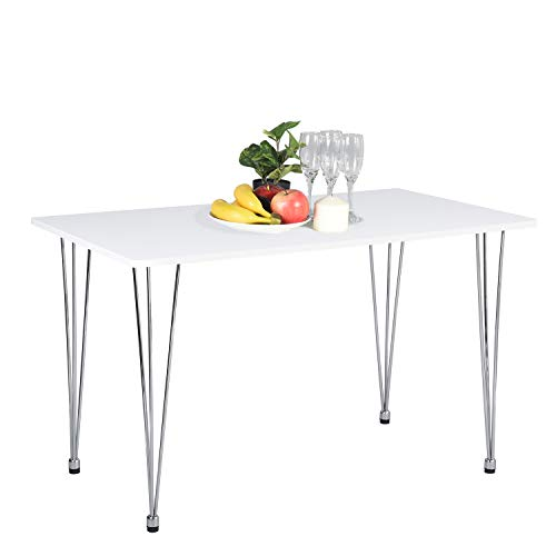 "Kitchen Leg Dining Table (Dining Table, Kitchen Table Mid Century Modern Industrial Home Dining Room Table Compatible with Hairpin Legs, White Office Balcony Leisure Table, 47.2"" L X 27.6"" D X 28.3"" H)"