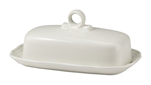 Mikasa French Countryside Covered Butter Dish, White