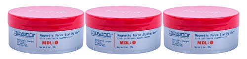 GIOVANNI Magnetic Force Styling Wax, 2 Oz - 3 Pack (Wax Head Styling)