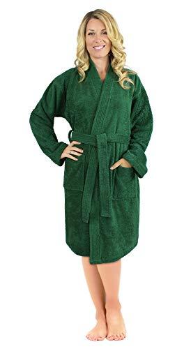 Luxurious Turkish Cotton Kimono Collar Super-Soft Terry Absorbent Bathrobes  for Women c0196a2d8